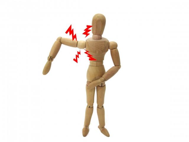 右肩関節が痛む模型